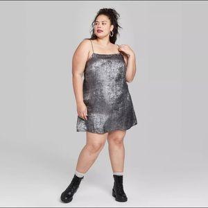 NWT WILD FABLE Strappy Mini Shift Dress 3X